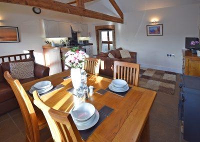 Apple-loft-dining-kitchen-Farwood-Barton-Holiday-Cottages-Colyton-Devon